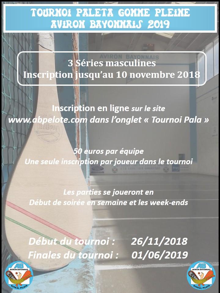 affiche tournoi pala 2019